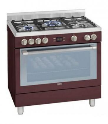 DEFY 90CM GAS/ELEC STOVE (RED) MODEL-DGS162R