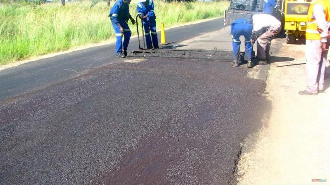 Private road construction         Road markings         Speed bump construction Tar Surfacing