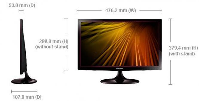 Samsung 19.5 Screen LED Monitor 20D300 in Durbanville, Western Cape