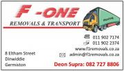 Furniture Removals: F One Removals