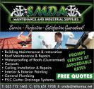 Waterproofing, Roof leaks, Gutters, Ceiling repairs, Painting, Maintenance, Plumbing, Roofing