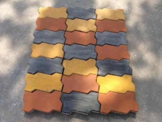 Rock Design Block Bricks and Zig Zag Pavers