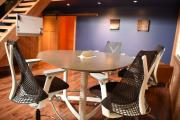 Herman Miller Enclave Table & 4 x Sayl Stools