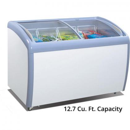 Atosa Glass Curved Top Display Freezer