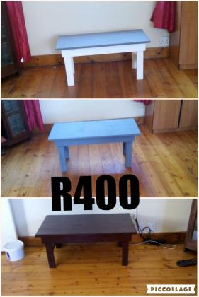 Rustic wooden furniture