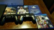 Selling PS4 500GB Slim Console + Camera + 2 x DualShock 4 Controller + 4 Games