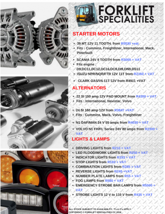 Truck Parts for all makes and models in Chatsworth, KwaZulu-Natal