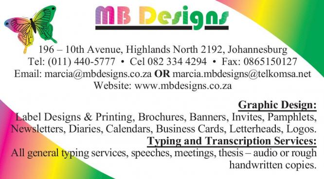 Graphic Design, Typing, Transcription Services