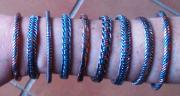 Handmade copper and steel bracelets