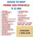 House to Rent Pierre van Ryneveld