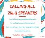 Tutor isiZulu on Your Smartphone/Computer (No experience required)