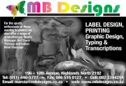 Graphic Design, Typing, Transcription Services
