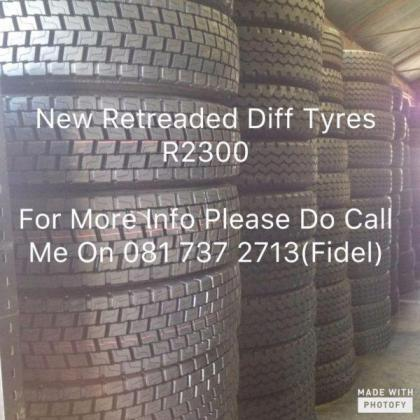 NEW RETREADED DIFF TYRE'S TRACTION TYRE'S FOR SALE