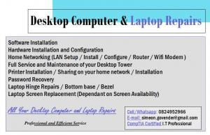 Pc and Laptop Repairs at Affordable Rates !!!