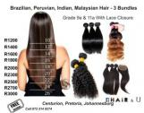 Brazilian, Peruvian, Malaysian Weaves with free closure