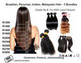 Brazilian, Peruvian, Malaysian Weaves with free closure