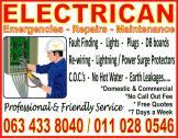 Electrician - Emergencies, Repairs, Maintenance