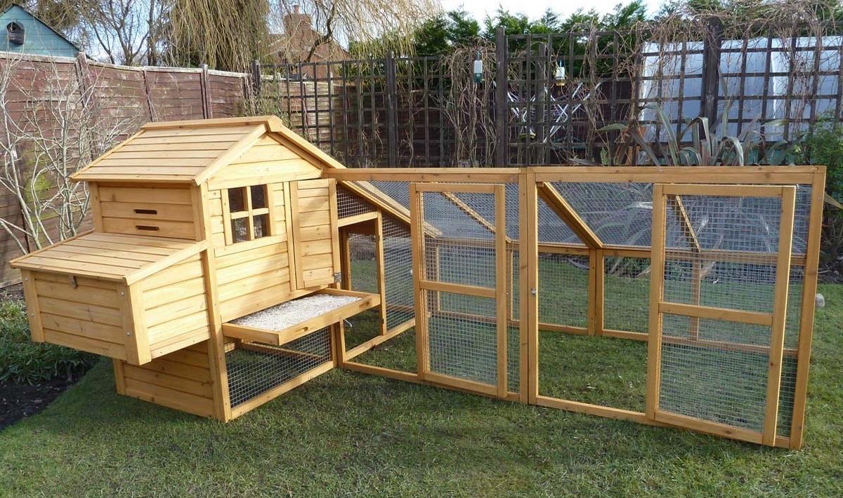 coop ikayaa p rabbit hutch hutches waterproof large wooden outdoor chicken
