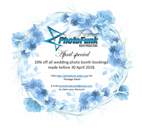 April Special - Professional Wedding Photo Booth Services servicing