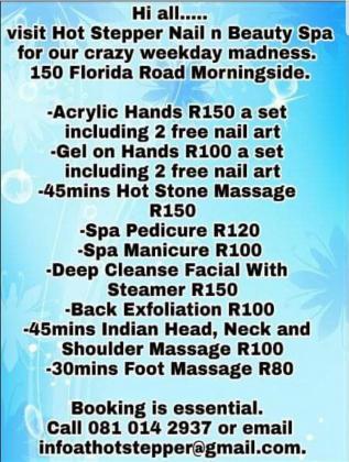 Crazy weekday specials!! in Durban, KwaZulu-Natal