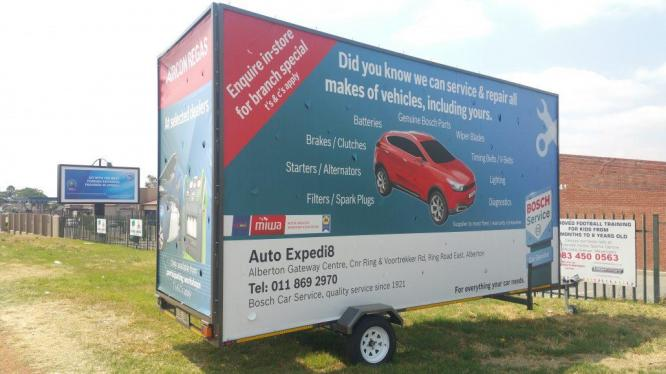 MOBILE BILLBOARD TRAILER TO RENT