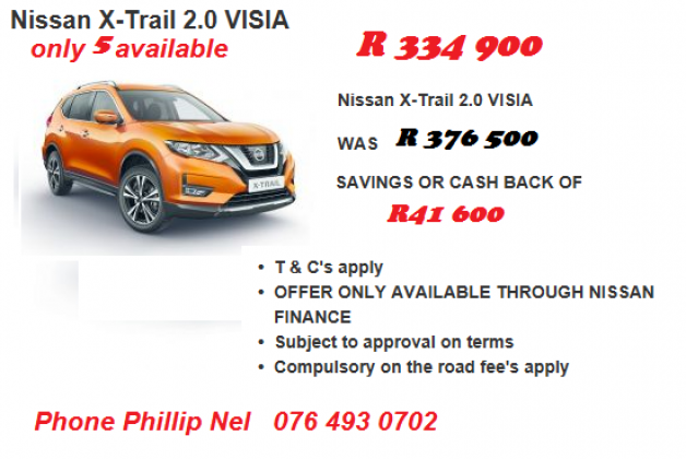 Nissan specials ONLY