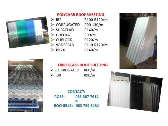 Polycarb & Fibreglass Roof Sheeting