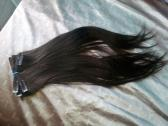 Brazilian human clip in hair extensions