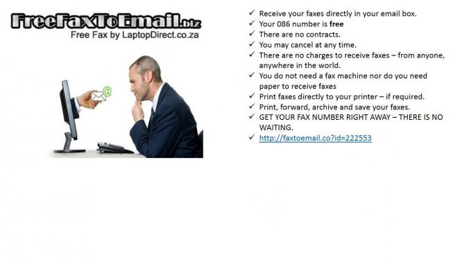 FREE Fax to Email in Bloemfontein, Free State