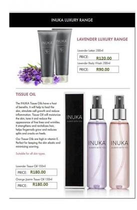 INUKA FRAGRANCES PRODUCTS