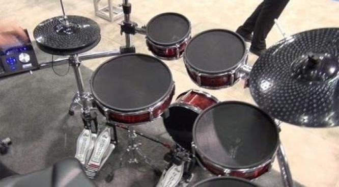 The Strike Pro Kit from Alesis is an eleven-piece professional electronic drum kit