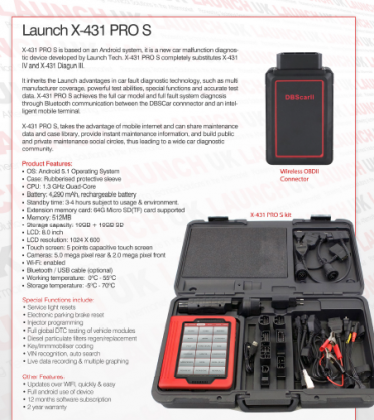 Vehicle diagnostic machine. X431 Pro S