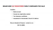 BRAND NEW VAT REGISTERED SHELF COMPANIES FOR SALE