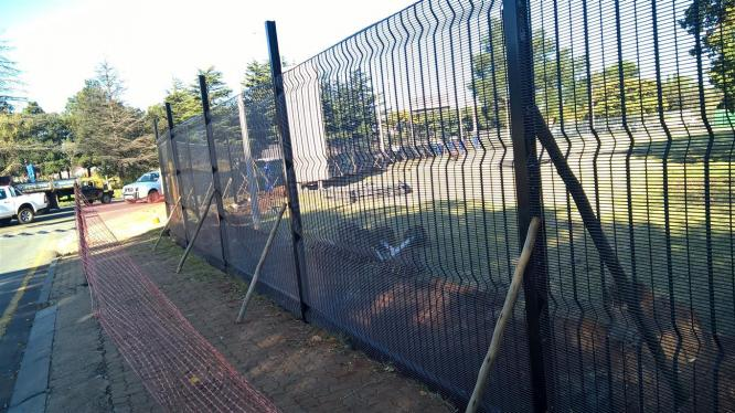 Clearvu fencing.palisade fencing. electric fencing. construction. painting. tilling cctv installations
