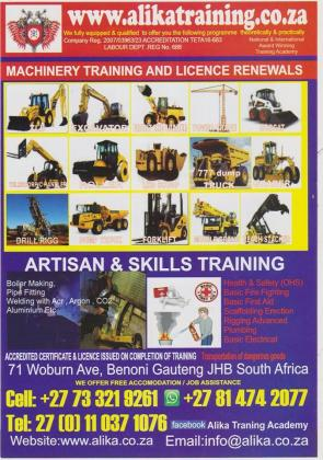 Machinery Training & licence Renewals