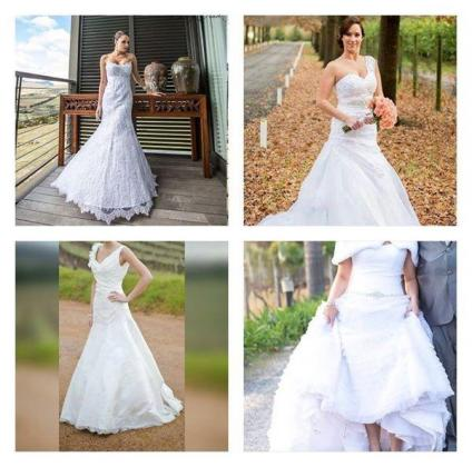 Wedding dresses for hire - NO Fitting Fee so come try them on !!!!