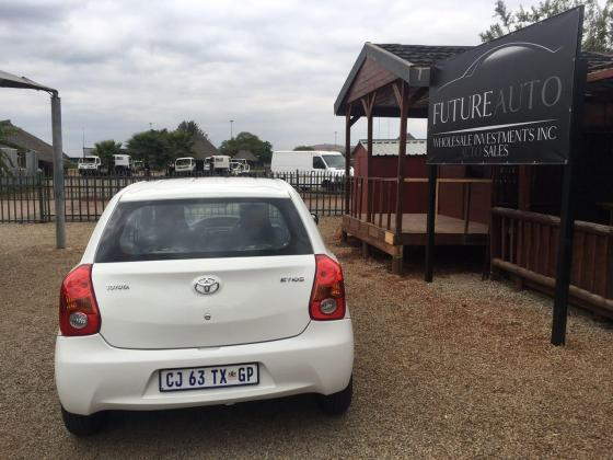 White 2013 Toyota Etios 1.5i For Sale!!