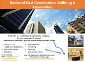 Construction, Building & Renovation Reduced Cost Services