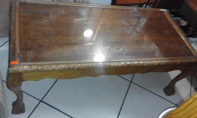 Ball & Claw Coffee Table with Glass Top for SALE!
