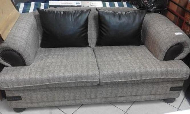 Beige & Chocolate Brown Couch for SALE!