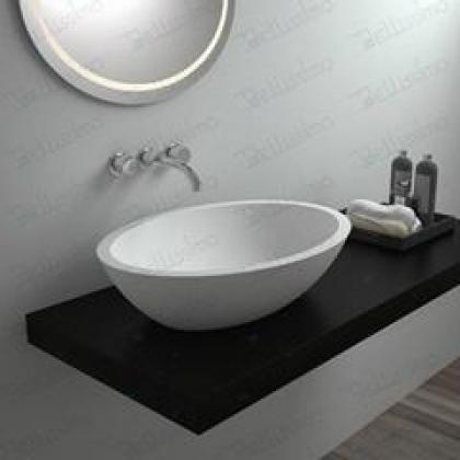 BS-8405 rectangle stone hanging Bathroom sink , stone resin wash basin