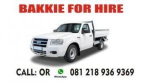 BAKKIE FOR HIRE: 081 218 9369