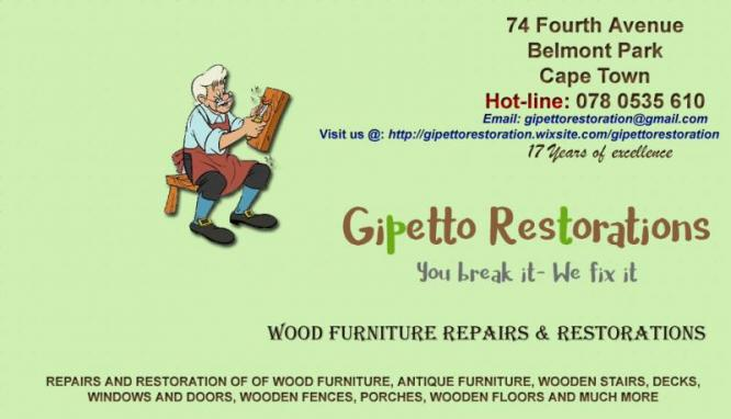 FURNITURE REPAIRS & RESTORATIONS 078 0535 610