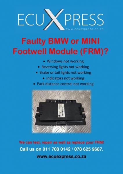 FRM Footwell Module Repairs and Replacements For BMW & MINI