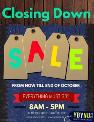 Closing Down Sale Goods must Go