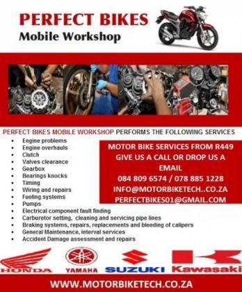 Motorcycle & scooter mobile Mechanic in Douglasdale, Gauteng