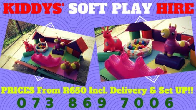 ON SPECIAL! Kiddies SOFT PLAY for Hire & Free PHOTOGRAPHY
