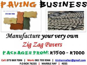 Zig Zag Paving Making Equipment ON SPECIAL