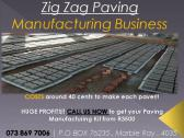 Paver Manufacturing Business FOR SALE