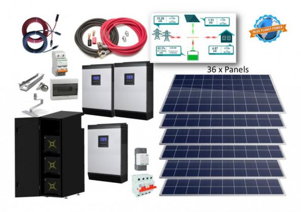 15kW single Phase System with 22,2kWh Lithium-ion battery